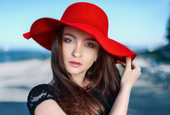 The girl with the red hat by dontgiveacake -