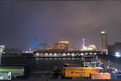 Port of Kobe (Hideki Iba) Tags: japan kobe port rain rainy night light nikon d850 2470 tower container cloud weather building architecture 神戸 日本 港 コンテナ ポートタワー ホテル 建物