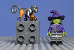 The Witch (N.the.Kudzu) Tags: tabletop lego minifigures monkey witch brick canondslr canon50mmf18 flash primelens macro