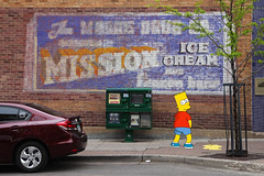 You never know who you'll run into in Flagstaff (twm1340) Tags: bart simpson flagstaff az mission icecream ghost sign