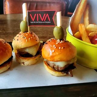 Mini Beef Burger at Viva Restaurant & Tapas Bar Bangkok