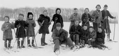 The gang (theirhistory) Tags: children kids boys girls school class group form coat ski pole hat snow trousers wellies rubberboots