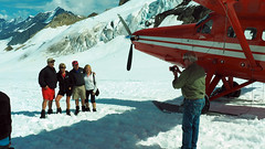 Ruth Glacier Alaska (PDX Bailey) Tags: alaska denali ruth glacier snow white red airplane plane k2 aviation travel people mountain blue sky cloud landscape group man woman dehaviland twin otter propeller pilot smile say cheeze