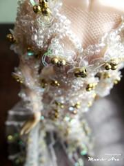 Wedding Dress WIP (Mundo Ara) Tags: wedding dress wip pullip fashion
