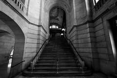 Library Noir (Kenneth Laurence Neal) Tags: newyorkpubliclibrary newyorkcity architecture gothic noir staircase shadows blackandwhite monotone nikond7100 nikon1024mm silver efex pro landmarkbuildings