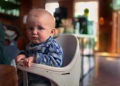 (bjornarv) Tags: baby boy blue green yellow tag oslo norway norge no europe street photography picture portrait portrett