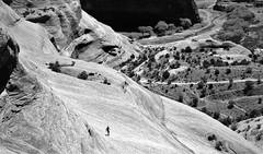The running man (peer.heesterbeek) Tags: running man canyon arizona monochrome