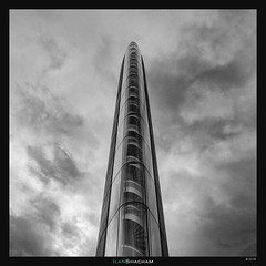 Emperor Chaban (Ilan Shacham) Tags: abstract architecture minimalism shape form repetition sky power tower bridge staircase fineart fineartphotography pontchaban bordeaux france cityscape bw blackandwhite