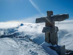 Bolt from the Sky (Stuart.67) Tags: inukshuk 2010 winter olympics canada british columbia snow stone statue bluesky frozen