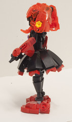 Demon Daughter (Ben Cossy) Tags: lego moc hair girl demon afol tfol lady skirt ccbs system bionicle biotube biogram fire toa makuta ekimu