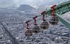 Grenoble et ses Bulles.. Grenoble and its cable car.. (Didier Gozzo) Tags: câblecar bastille canon outdoor ngc bulles téléphérique rhônealpes alpes isère grenoble