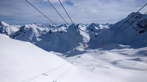 Snowboarding in Arosa