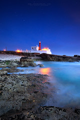 BE A LIGHTHOUSE (FredConcha) Tags: lighthouse caboraso cascais portugal landscape seascape stars night nikon lee longexposure rocks sea fredconcha