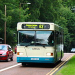 ARRIVA NORTH EAST 284 N284NCN IS SEEN APPROACHING DURHAM COUNTY HALL ON 13 AUGUST 2009