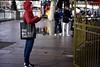 The Big Bag Theory (garryknight) Tags: sony a6000 on1photoraw2018 london creativecommons ccby30 street man bag southbank carousel merrygoround thebigbangtheory thequeenswalk