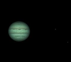 20180503 00-39UT Jupiter Io & Ganymede RRGB (Roger Hutchinson) Tags: jupiter io ganymede planets solarsystem space astronomy astrophotography london celestronedgehd11 asi174mm televue powermate