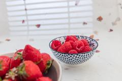Strawberries and raspberries. (annick vanderschelden) Tags: fruit strawberry raspberry bowl food red cooking culinary belgium