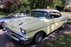 Chevrolet Bel Air (R.K.C. Photography) Tags: 1957 chevrolet belair classic american car chevy 640xue roystonhistoricvehicleshow royston hertfordshire england unitedkingdom uk canoneos100d