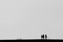 The Meeting (MrAlbionMan) Tags: people meeting blackandwhite silhouettes birdwatching