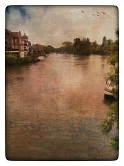 Day 132 Windsor (Clare Pickett) Tags: painterly water windsor thames river london