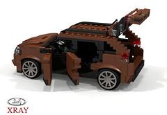 Lada XRAY Crossover - 2016 (lego911) Tags: autovaz lada xray cuv crossover russia russian renault group 2016 2010s wagon auto car moc model miniland lego lego11 ldd render cad povray suv