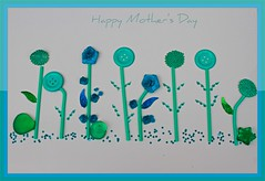 Happy Mother's Day (Chandana Witharanage) Tags: srilanka southasia lifeisarainbowoneyearincolours may turquoise 1852weeks happymothersday2018 13thmay2018 mymomsflowergarden buttons ribbonroses glassbeads creativephotography tabletop availablelight