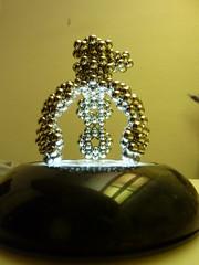 Tri-pod  - P1230091 (tend2it) Tags: neoball neocube buckyballs cybercube zenmagnet magcube nanodots magnet neodymium zen magnets zenmagnets cool magnetic sculptures art sculpture design original symmetric geometry geometric shape tripod 3 legs nose life form alien hex