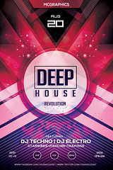 DEEP HOUSE REVOLUTION (movingclays) Tags: adobe artist beatport colors dance dj dubstep edm electro festival flyer futuristic graphic guest house indie instagram itunes millennial model modern neon nightclub party psd rock soundcloud speaker techno template