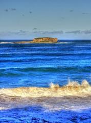 End of autumn big waves III (elphweb) Tags: hdr highdynamicrange nsw australia sea ocean water seaside waves surf island