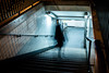 Welcome (s.bardury) Tags: stphotographia paris night stairs street underground tube motion light cold