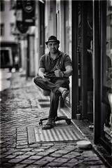 Shop Owner (Fouquier ॐ) Tags: mono monochrome urban people blackandwhite bw antwerp belgium