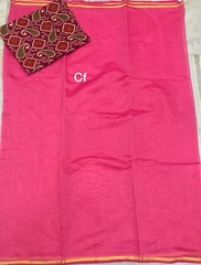 Kora Silk Sarees With Zari Border and Kalamkari Blouse   City Fashions   Buy Online Kora Silk Sarees (shivainemail_2212) Tags: kora silk sarees with zari border kalamkari blouse   city fashions buy online