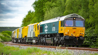 GBRf Class 66/7 no 66789 at Boughton (Nottinghamshire) on 16-05-2018