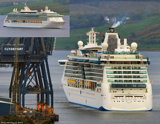Scotland Greenock docking at dawn the cruise ship Brilliance of the Seas 20 May 2018 by Anne MacKay