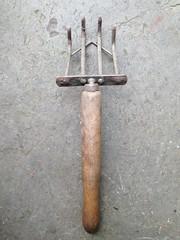 Hand rake (Mary Hutchison) Tags: garden tool vintage rake handtool