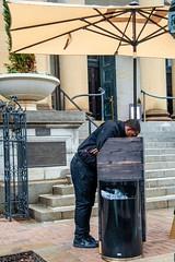 focused (richard binhammer) Tags: washingtondc street concierge umbrella doorman
