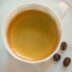 Macro Mondays: Ready for the Day (Janos Kertesz) Tags: macromondays readyfortheday coffee cup drink white espresso foam hot morning caffeine brown breakfast background black