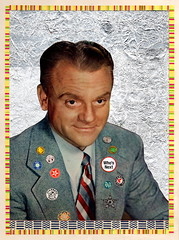 Silver Screen stars (Kollage Kid) Tags: collage badges jamescagney star silver