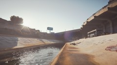 LA River | GTA V (Stellasin) Tags: angeles gaming game beauty beautiful buildings blur car cars city clouds downtown engine weather reflection people flare fog graphics gtav gta grass hot highway photography sky los mods mountains motion road trees screenshot sun sunrise v water