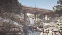 Bridge   GTA V (Stellasin) Tags: angeles gaming game beauty beautiful buildings blur car cars city clouds downtown engine weather reflection people flare fog graphics gtav gta grass hot highway photography sky los mods mountains motion road trees screenshot sun sunrise v water
