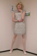 The new dress. (sabine57) Tags: crossdressing transvestism crossdress crossdresser cd tgirl tranny transgender transvestite tv travestie drag pumps highheels pantyhose tights dress