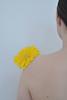 Wednesday Flower (EYLUL ASLAN) Tags: yellow shoulder woman flower wednesday digital
