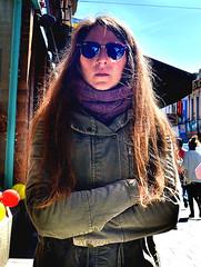 Blue (Owen J Fitzpatrick) Tags: ojf people photography nikon fitzpatrick owen pretty pavement chasing d3100 ireland editorial use only ojfitzpatrick eire dublin republic city tamron candid joe candidphotography candidphoto unposed natural attractive beauty beautiful woman female lady j along pretoebranco photoshoot street 2018 baile atha cliath dubh linn dun laoghaire rathdown april 21st 21042018 hair long shades sunglasses scarf georges portrait streetphotography dslr digital streetphoto