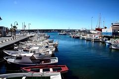 Port in Delta de l'Ebre (Dablan33) Tags: port water ship boat blue catalonia canon 450d eos canon450d delta ebro ebre deltadelebre