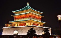 Bell Tower [explored 2018-05-24] (Perfect Gnat) Tags: belltower xian shaanxi china building architecture nightstot color roof asia