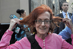 hair (greenelent) Tags: notrump protest demonstration riseandresist streets people activists nyc newyork