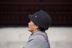 People from Korea (AlainC3) Tags: coréedusud southkorea femme woman nikon d90 portrait chapeau hat dof flou rose pink