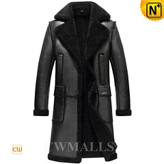 CWMALLS® Men Black Sheepskin Trench Coat CW808005 [Patented Product, Custom Made] (cwmalls2018) Tags: men sheepskin trenchcoat black custommade shopping fashion style winterwear