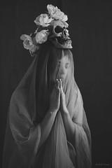 dear Death* (Wolf's Kurai) Tags: wolfkurai wolfskurai melancholy pray death portrait girl fragile frail hurt