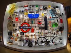 Crowdsourced iconic designs wall  - Design Museum, Kensington, London W8 (edk7) Tags: olympusomdem5 olympus9mm18140°fisheyezonefocusbodycaplens edk7 2018 uk england london londonw8 royalboroughofkensingtonandchelsea kensington designmuseum objects artefacts display
